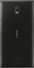 Nokia 3 Dual Sim zwart achterkant