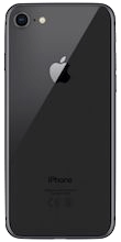 Achterkant apple iphone 8 space gray