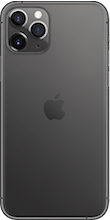 Achterkant apple iphone 11 pro max space gray