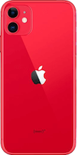 Achterkant apple iphone 11 refurbished rood