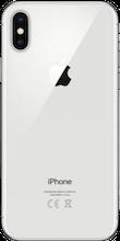 Achterkant apple iphone x refurbished zilver