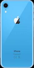 Achterkant apple iphone xr blauw