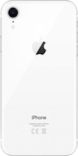 Achterkant apple iphone xr refurbished wit