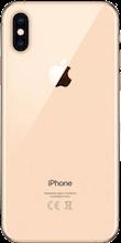 Achterkant iphone xs goud