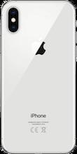 Achterkant iphone xs zilver