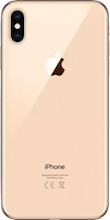 Achterkant iphone xs max gold