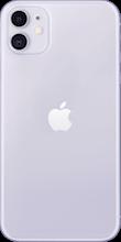 Achterkant apple iphone 11 purple