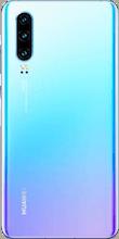 Achterkant huawei p30 dual sim crystal blue