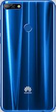Achterkant huawei y7 2018 blauw