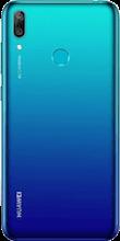 Achterkant huawei y7 2019 dual sim blauw