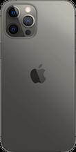 Achterkant apple iphone 12 pro max zwart
