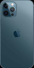 Achterkant apple iphone 12 pro max blauw