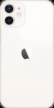 Achterkant apple iphone  12 mini wit
