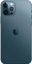 Achterkant apple iphone 12 pro blauw