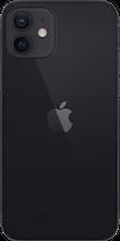 Achterkant apple iphone 12 zwart