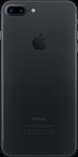 Iphone 7 plus zwart achterkant
