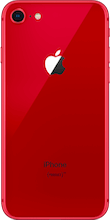 Achterkant apple iphone 8 refurbished rood