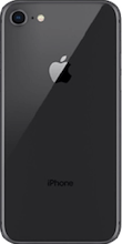 Achterkant iphone 8 space gray
