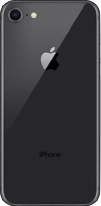 Achterkant apple iphone 8 refurbished space gray