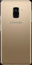 Achterkant galaxy a8 2018 gold