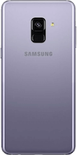 Achterkant galaxy a8 2018 orchid gray