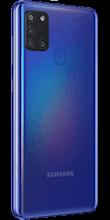 Zijkant samsung galaxy a21s blauw