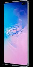 Zijkant samsung galaxy s10 plus prism blue