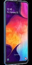Zijkant samsung galaxy a50 blauw