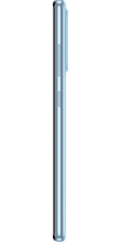 Zijkant samsung galaxy a52 dual sim blauw