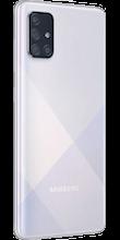 Zijkant samsung galaxy a71 dual sim zilver