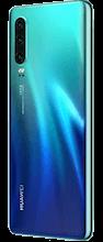 Zijkant huawei p30 dual sim blauw
