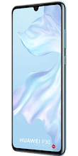Zijkant huawei p30 dual sim crystal blue