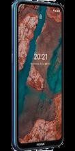 Zijkant nokia x20 blauw