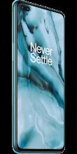 Zijkant oneplus nord dual sim blauw