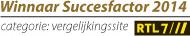 Beste prijsvergelijkingswebsite Succesfactor 2014