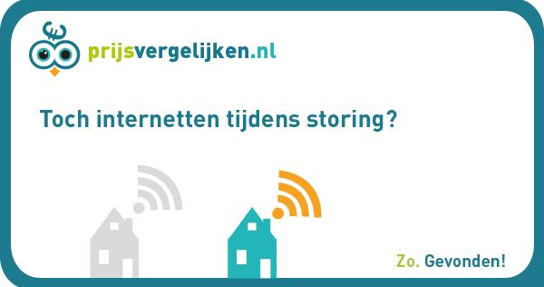 Internetten tijdens storing