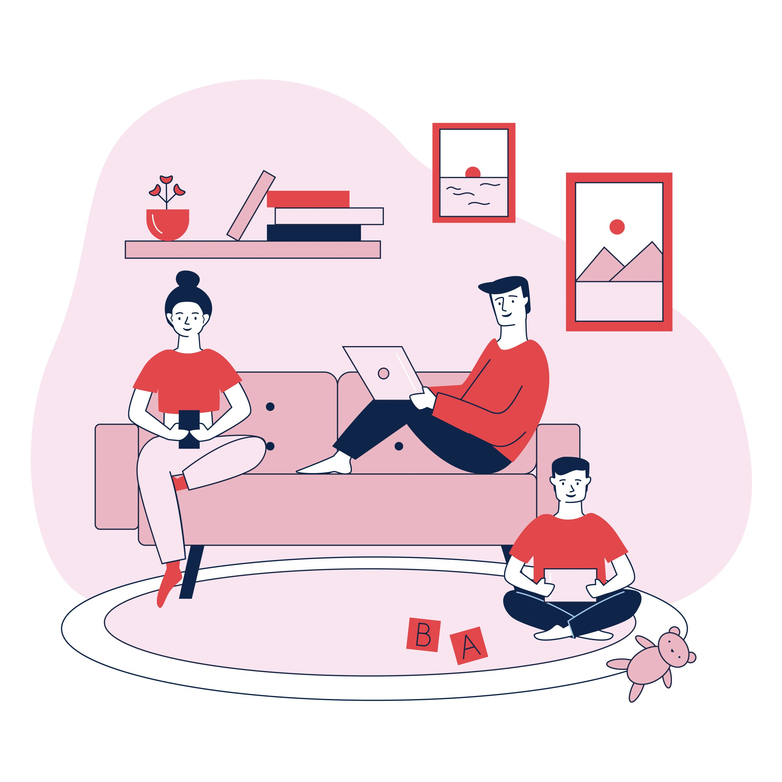schermgebruik regels familie online