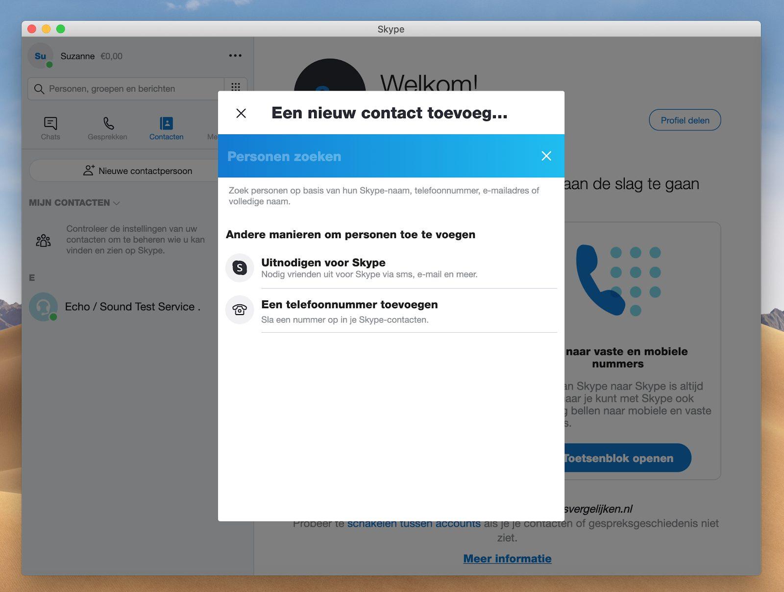 Screenshot invoerveld nieuwe contactpersoon toevoegen