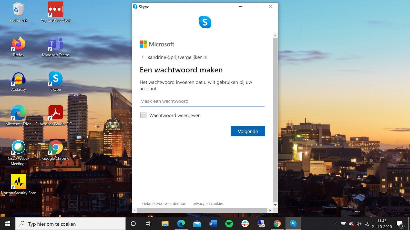 Screenshot een wachtwoord maken