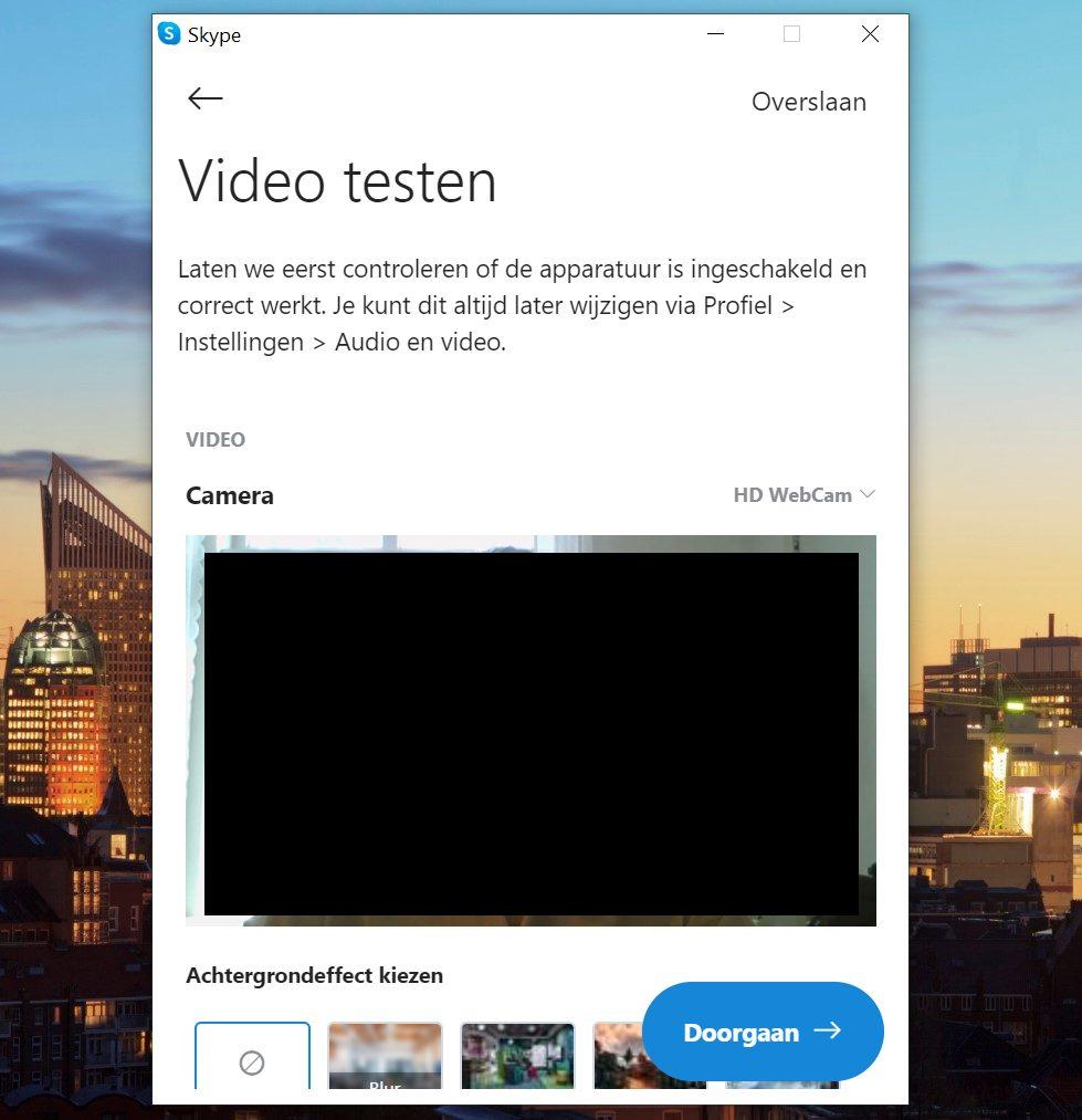 Screenshot video testen Skype