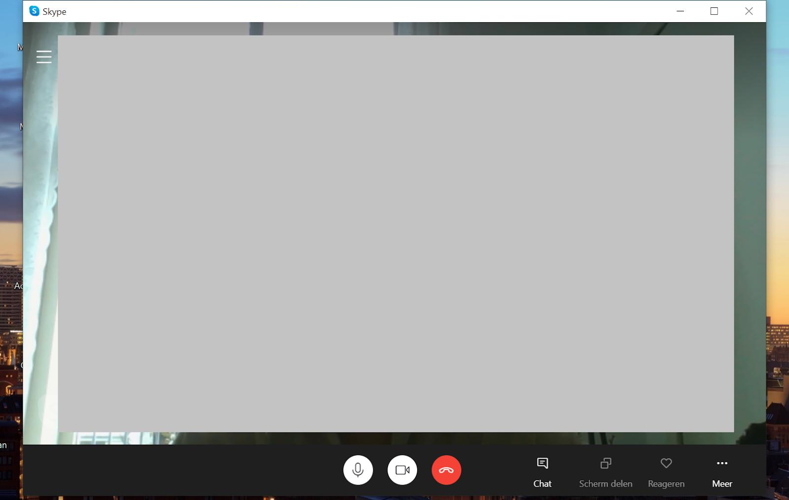 Screenshot wachten tot contactpersoon opneemt Skype