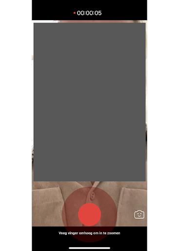 Screenshot videobericht opnemen WhatsApp