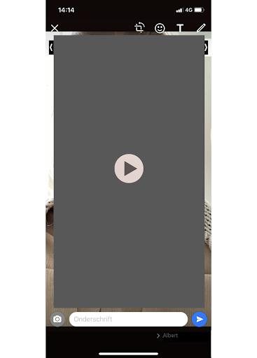 Screenshot videobericht versturen WhatsApp
