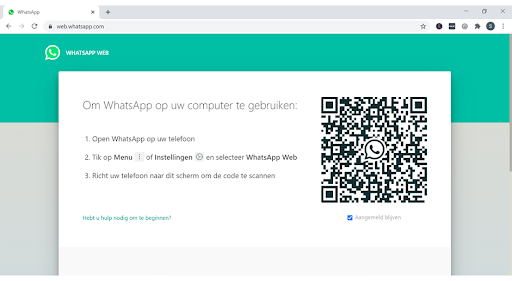 Screenshot QR-code Web WhatsApp