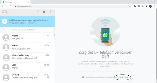 Screenshot Web WhatsApp downloaden