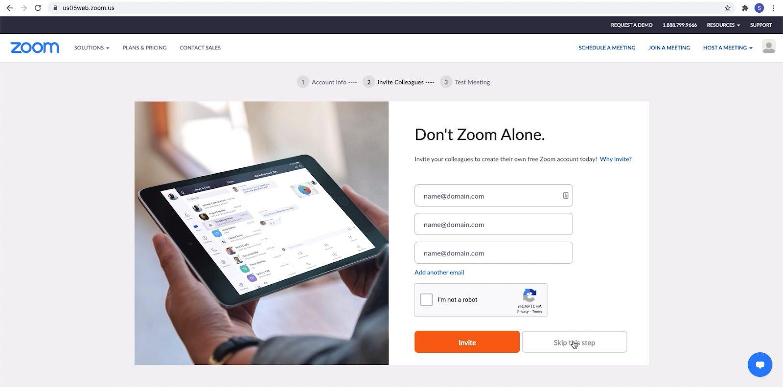Screenshot: Andere mensen uitnodigen voor Zoom