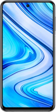 Xiaomi Redmi Note 9 Pro zilver voorkant