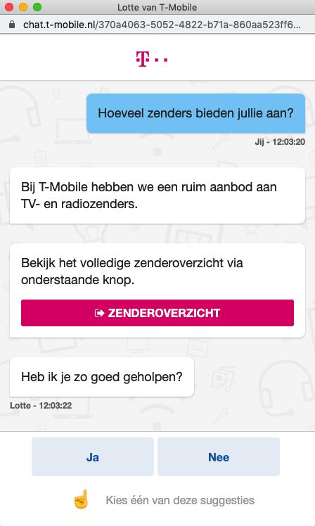 screenshot chat met t-mobile